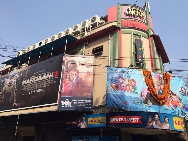 コルカタ市内の老舗映画館