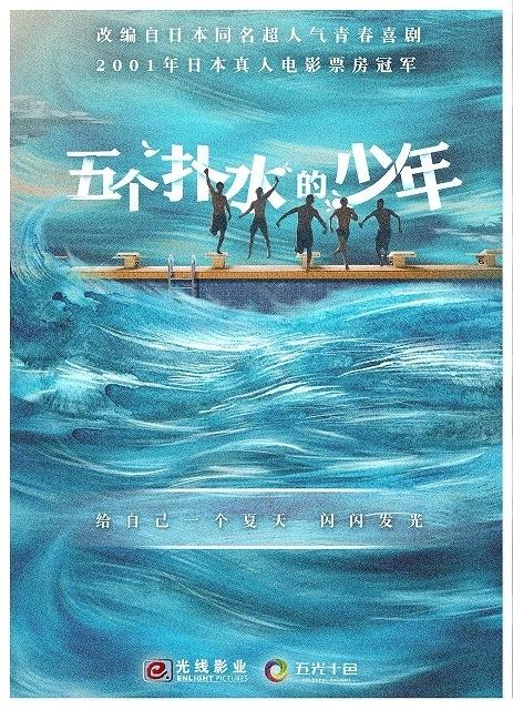 中国版「ウォーターボーイズ」告知ポスター