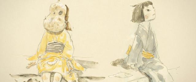 松本大洋氏が描いた、犬王と友魚(ともな)