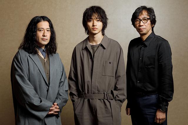 取材に応じた(左から)又吉直樹、山崎賢人、行定勲監督
