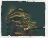 『千と千尋の神隠し』(2001)背景画 © 2001 Studio Ghibli・NDDTM