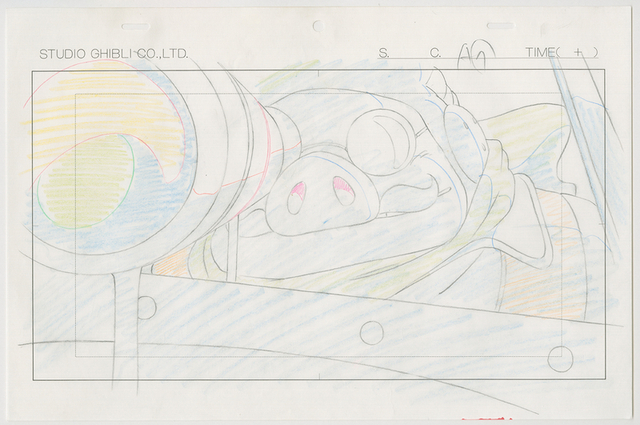 『紅の豚』(1992)原画 © 1992 Studio Ghibli・NN