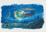 『崖の上のポニョ』(2008)美術ボード © 2008 Studio Ghibli・NDHDMT