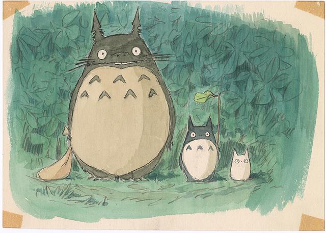 『となりのトトロ』(1988)イメージボード 宮崎駿 © 1988 Studio Ghibli
