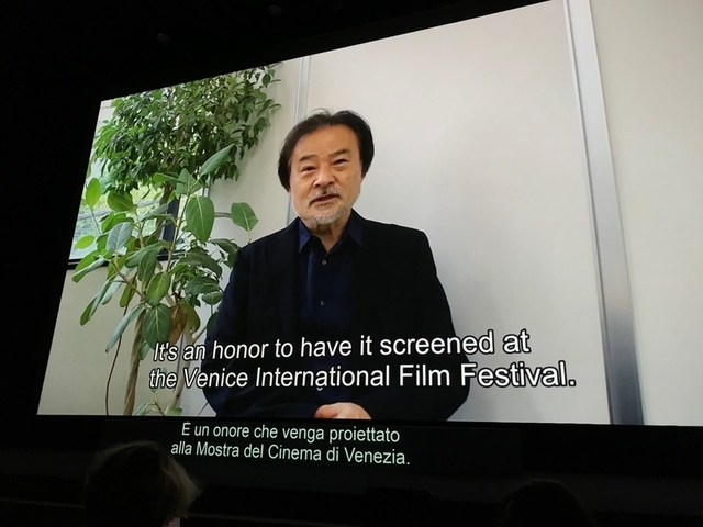 9月9日の上映時には日本からオンラインで会見に応じた黒沢清監督