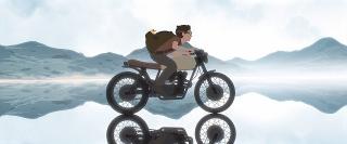 世界の映画祭で9冠! 飛行機事故で不時着、オートバイで美しい世界を駆け抜ける「Away」場面写真12点