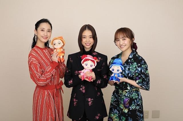 インタビューに応じた森川葵、松井玲奈、百田夏菜子