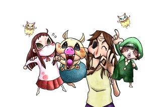 LINEマンガ連載のホラー「鬼畜島」がほのぼの系ショートアニメに 花江夏樹ら出演