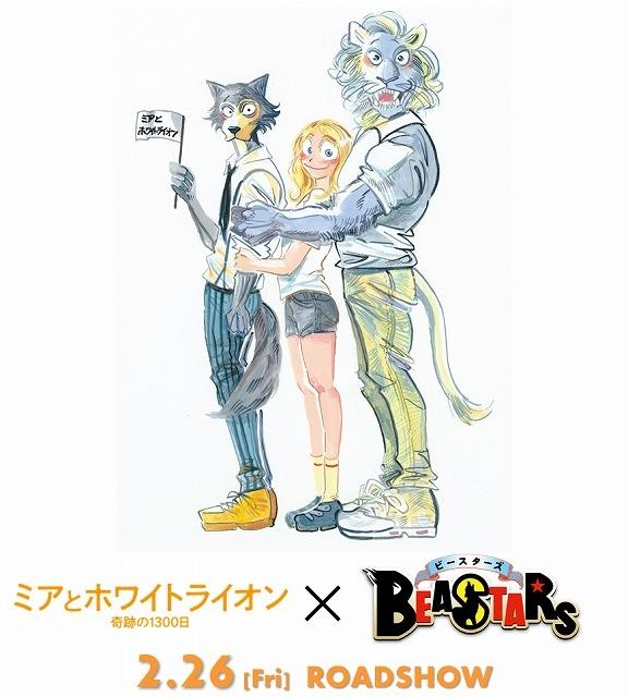 「BEASTARS」×「ミアとホワイトライオン」 種族の垣根を超えた描き下ろしイラスト披露