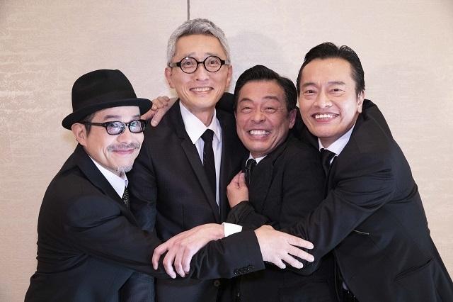 取材に応じた(左から)田口トモロヲ、松重豊、光石研、遠藤憲一