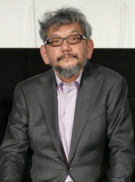 舞台挨拶に立った庵野秀明氏