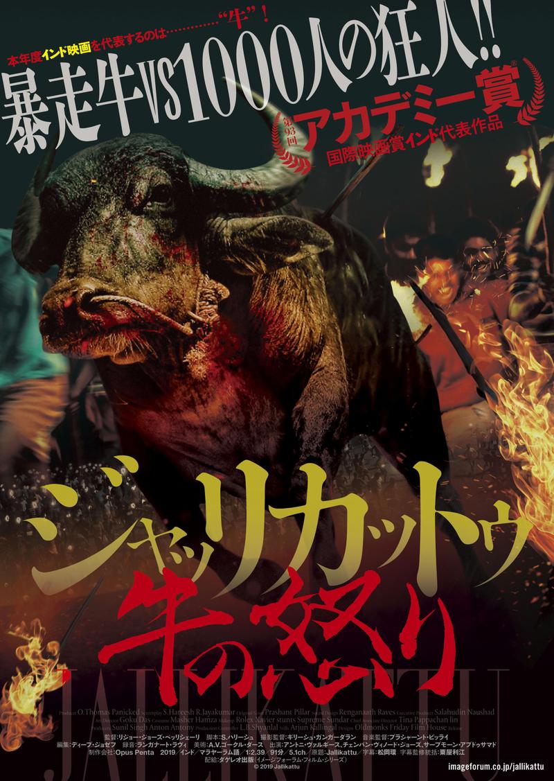 肉屋から逃げ出した暴走牛VS1000人の狂人 インドの牛追いスリラーパニック映画「ジャッリカットゥ 牛の怒り」7月公開