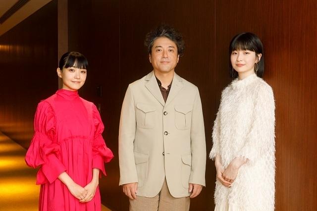 取材に応じた(左から)奈緒、ムロツヨシ、中田乃愛