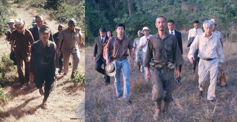 """終戦30年後""""最後の日本兵""""小野田寛郎さんがジャングルから出た当時の写真と「ONODA」場面写真を比較"""