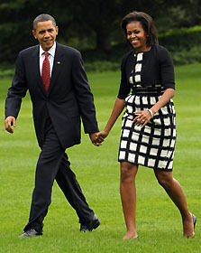 ミシェル夫人、スピーチ後のオバマ大統領に「ゴミ出しお願いね」