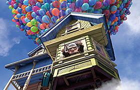 ピクサー初の3D作品「カールじいさんと空飛ぶ家」