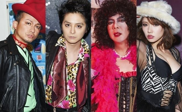 左から、リフラフ役のISSA、ブラッド役の小池徹平、フランク役の古田新太、ジャネット役のソニン