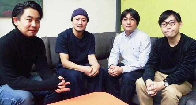 左から筆者、俳優の金子岳憲さん、杉田協士監督、配給協力・宣伝の髭野純さん