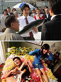 同日公開の「築地魚河岸~」(上) 「神様のパズル」(下)は惨敗