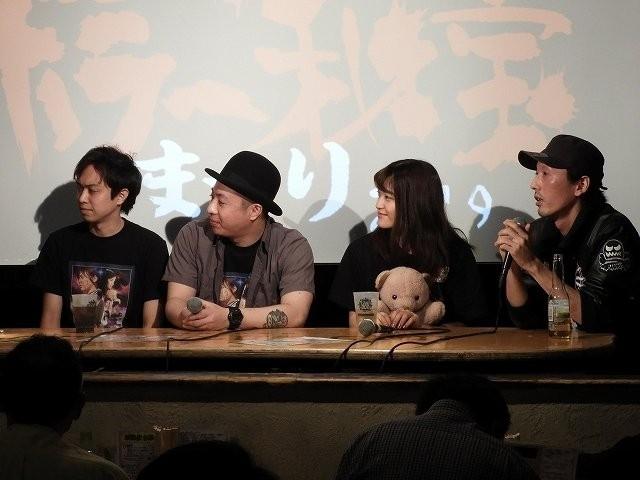 「星に願いを」の尾関俊和さん、畠山勇樹さん、正田貴美佳さん、佐々木勝己監督(左から)