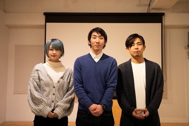 左から五味未知子、壷井濯監督、筆者(撮影:西邑匡弘)