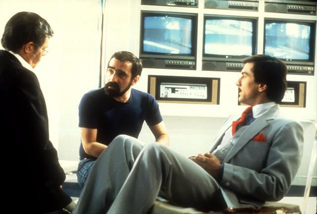撮影中のスコセッシ監督とデ・ニーロ、ジェリー・ルイス
