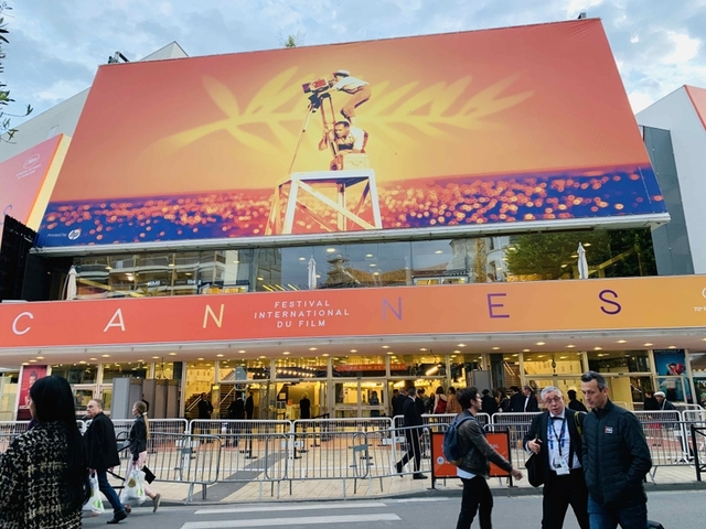 カンヌ映画祭のメイン会場(2019年)