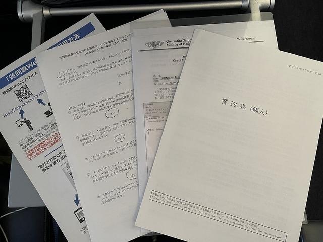 日本入国に必要な書類