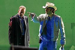 ブルース・ウィリスを演出するロドリゲス