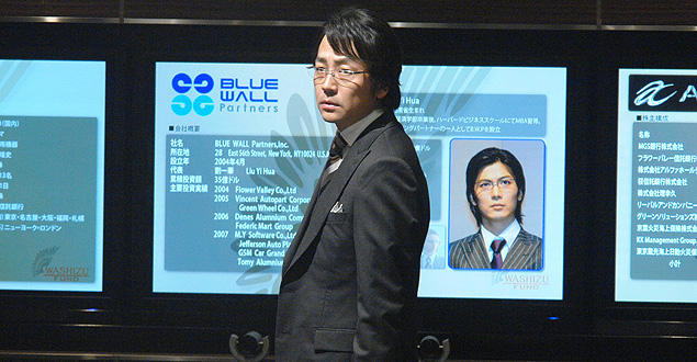 "TVドラマでは""日本を買い叩く""側だった鷲津だが、映画では日本買収を図る中国ファンドを迎え撃つ"
