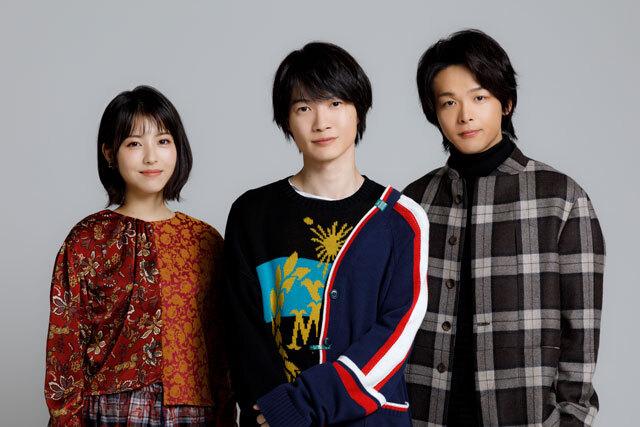 インタビューに応じた神木隆之介(中央)、 浜辺美波(左)、中村倫也