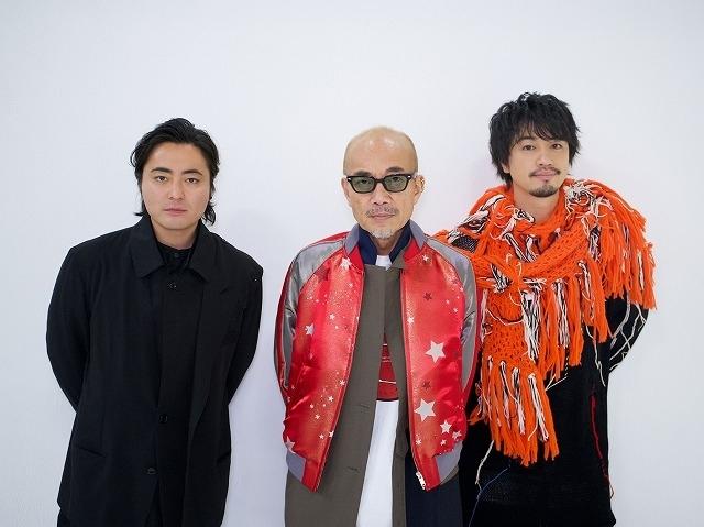 竹中直人監督(中央)、山田孝之監督(左)、齊藤工監督(右)
