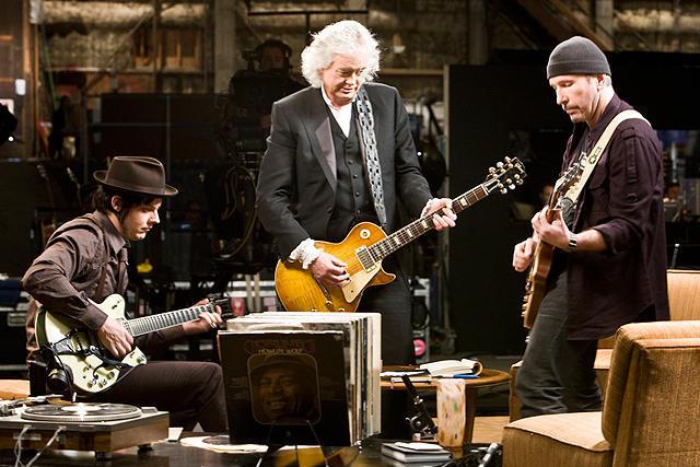 ジャック・ホワイトの「ゲット・ラウド ジ・エッジ、ジミー・ペイジ、ジャック・ホワイト×ライフ×ギター」の画像