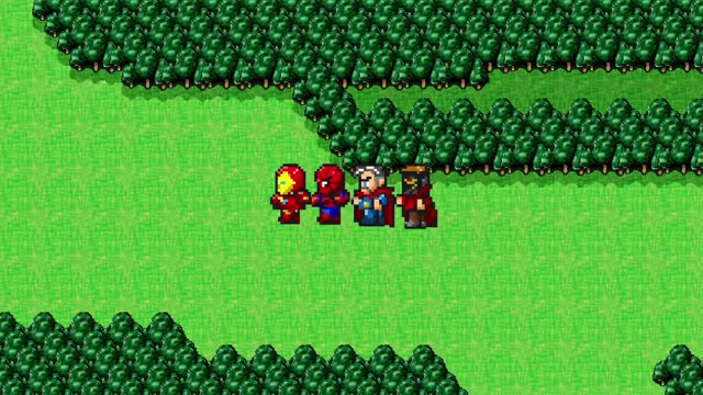8ビットゲーム風日本オリジナル映像