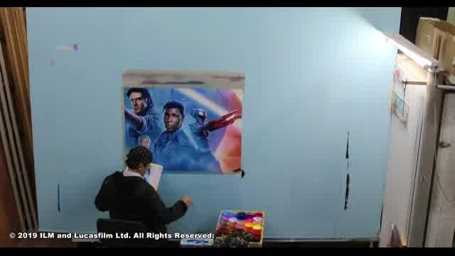 巨大手描き看板制作タイムラプス動画