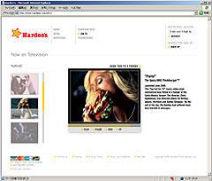 「Hardee's」のサイトでは、その過激(?)CMが見られる