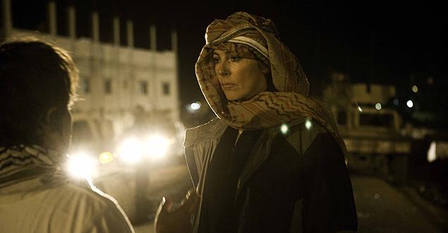 撮影中のキャスリン・ビグロー監督。もしオスカー受賞となれば、女性としては初のアカデミー賞受賞監督に