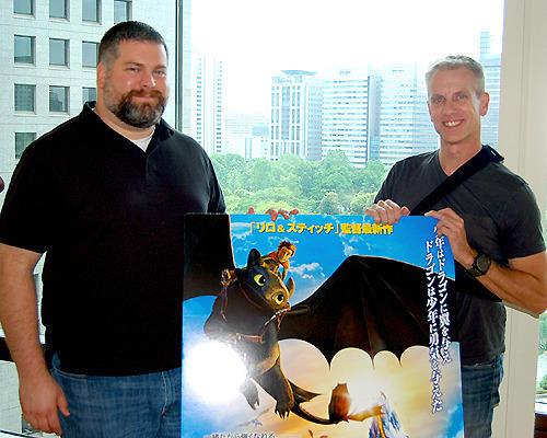 大人も納得する物語を作り上げた デュボア監督(左)とサンダース監督(右)