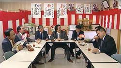 選挙事務所で議員と記者が繰り広げる生々しい会話