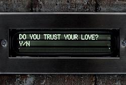 メッセージ枠に表示される「愛を信じますか?」