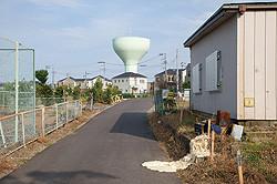 給水塔はCGではなく実際の建物
