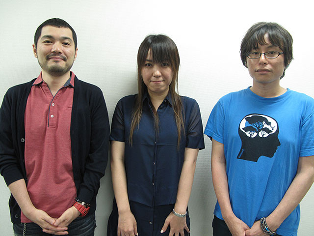 (左から)田中、岡田、長井監督