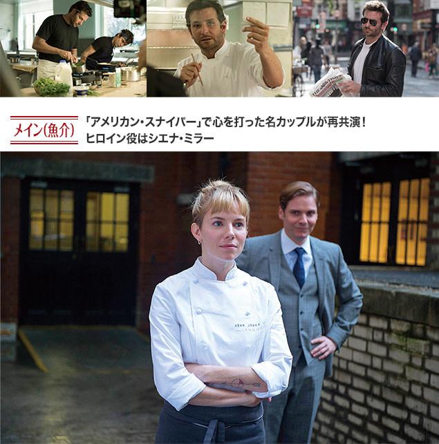 アダムと、シエナ・ミラー演じる男勝りな料理人エレーヌのロマンスも見どころ