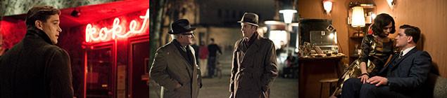 50年代後半当時のファッションや街並みも忠実に再現。スパイ映画の雰囲気をかもす