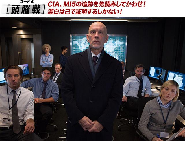 CIAヨーロッパ部門を率いるハンター(マルコビッチ)は、アリスに追っ手を差し向ける