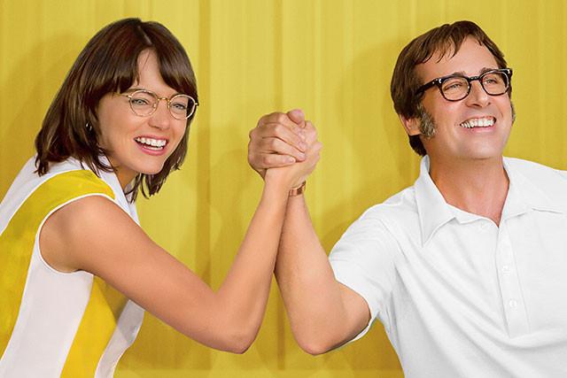 エマ・ストーンとスティーブ・カレルが、実在のテニスキング&クイーンを熱演!