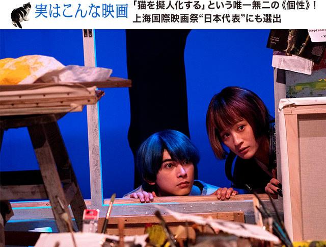 (左から)吉沢亮とコムアイがかもし出すほんわかしたムードが猫役にぴったり
