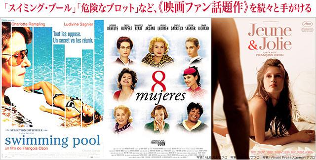 (左から)「スイミング・プール」「8人の女たち」「17歳」