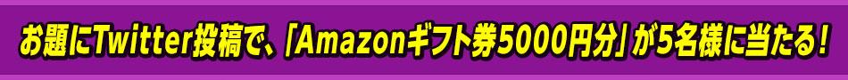 お題に答えて投稿すると「Amazonギフト券5000円分」が5名様に当たる!