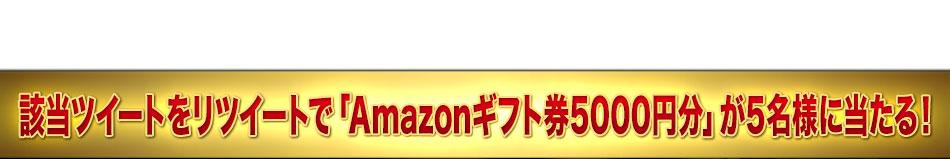 該当ツイートをリツイートするだけで、「Amazonギフト券5000円分」が5名様に当たる!